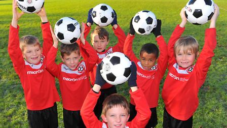 Lakeford Rangers Under 7's who have been overwhelmed with money and gifts after news of the theft of