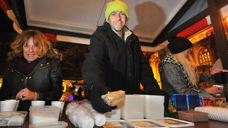 Helping the homeless and hungry on a cold night in Norwich, Sheil Ouzerdine, Dom Cooper and Kate Phi