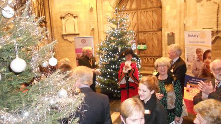 The Lord Mayor of Norwich, Judith Lubbock, switched on the lights of more than thirty five Christmas