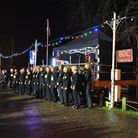 Thorpe St Andrew Christmas lights switch-on.The Rock Choir perform.