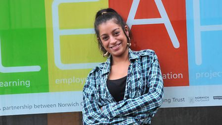 Nina Parmar, who has been helped by LEAP, a Norwich City Council & St Martins Housing Trust initiati