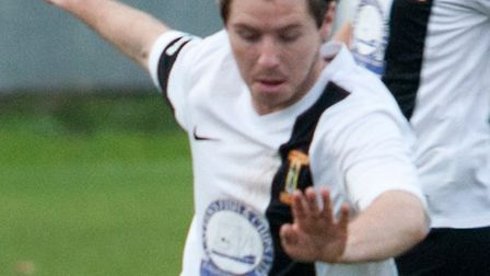 Alex Vincent opened the scoring for Swaffham at Yarmouth. Picture: Eddie Deane
