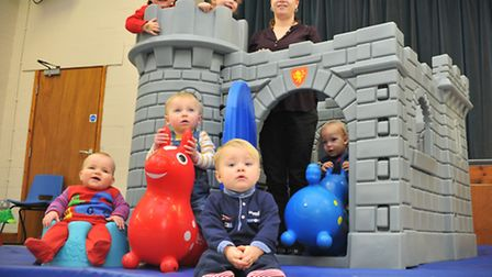 Clover Hill Toddler Group benefit from Comic Relief 'community cash' money last year. Sarah Parfitt