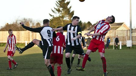 Action from Swaffham Town Reserves' 2-0 win against Mattishall Reserves at Shoemakers Lane, Jamie Bu