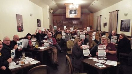 Retailers meet at the London Tavern in Attleborough to discuss how to keep the high street the focal