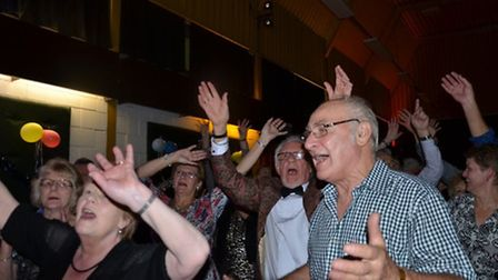 """""""More!"""": Some of the enthusiastic crowd at Second Opinion's final gig at Acle Social Club."""