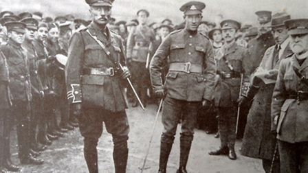 Sidney Day VC (centre right) with members of the Church Lads Brigade at Lakenham.