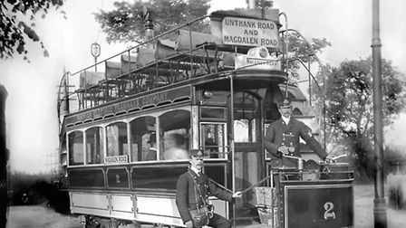 TRANSPORTTHE NO2 MAGDALEN ROAD SERVICE OF THE NORWICH ELECTRIC TRAMWAYS COIMAGES OF NORWICH BOOKDATE