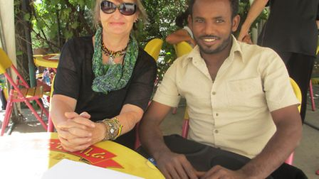 Norfolk teacher Cathy Burton, who runs a centre for the street kids of Addis Ababa in Ethiopia, with