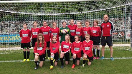 Thorpe St Andrew High School Girls football team, with coach Alistair Shearer, are fundraising to a