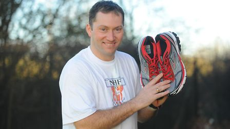 Detective Mike flower is running the marathon again this year for the national Holiday Fund. Picture
