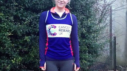 Freya Newton from Wymondham who is running the Bath half marathon for her mum. Picture: SUBMITTED