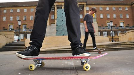 Byelaw powers were being considered by Norwich City Council, which would have banned skateboarders f