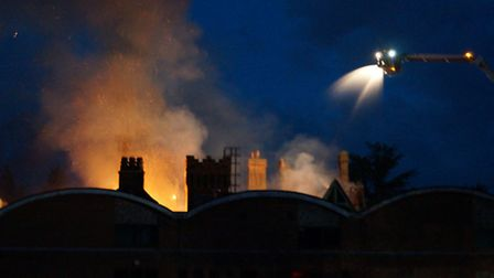 The fire at Pinebanks Thorpe St Andrew Norwich. Photo by iwitness24 member Richard Polley.
