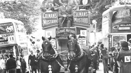 Lord Mayor's Procession. Pictured: Colmans Mustard float. Date: Jun 1978. Picture: EN Library