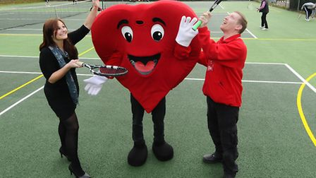 Couples Valentine's day tennis event at East Anglia Tennis and Squash Club in aid of British Heart F