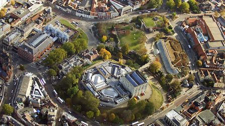 From the top: A view of Norwich Castle, with its galleries radiating out from the building. Ambitiou