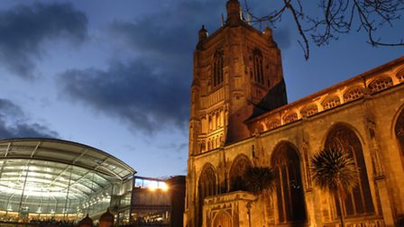 The Forum and St Peter Mancroft Church at night.1st March 2006Picture: James BassFor: EDP SCENIC/ C