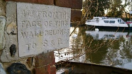 The stone plaque which has gone missing in Thorpe St Andrew.