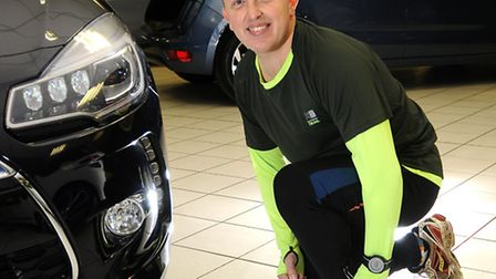 Richard Dade who works at Duff Morgan will be doing 10 charity runs.Picture: ANTONY KELLY