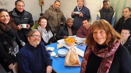 Dee Robinson, front right, project co-ordinator for the New Routes Project which helps ethnic minori