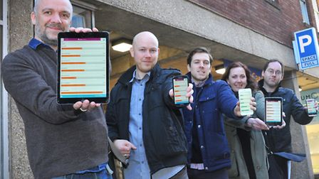 John Stutely(left) and the Astutech team(l to r) Daniel Tink, Dan Guest, Ingrid Brunsted and Matthew