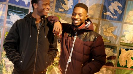 The Norwich International Youth Project. Members, left, Jonny Faustin and Nathan Bihogo. Picture: AN