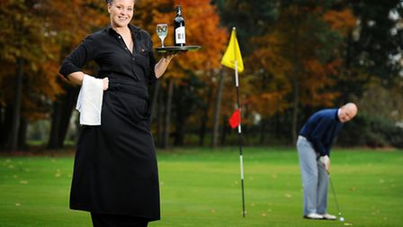 Samantha Hudson, who works at the 19th hole at Swaffham Golf Club, is the south-east regional winner