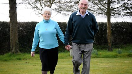 Ruth Perfitt celebrating 25 years since having a liver transplant. Pictured with her husband Don.Pic