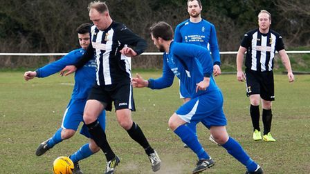 Action from Swaffham Town Reserves' 7-0 win over Loddon United Reserves at Shoemakers Lane, Jamie Bu