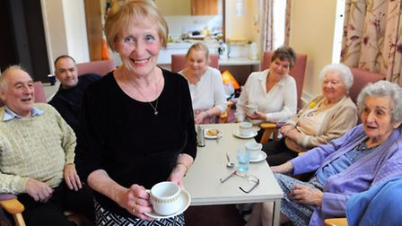 Doreen Steel, front, organiser of Costessey Day Centre, which faces closure unless it can secure new