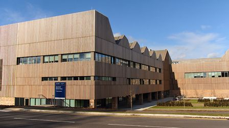 The new Bob Champion Research and Education building next to the Norfolk and Norwich University Hosp