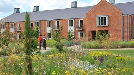 The new look gardens and new accommodation at the Great Hospital in Norwich.Photo by Simon Finlay.
