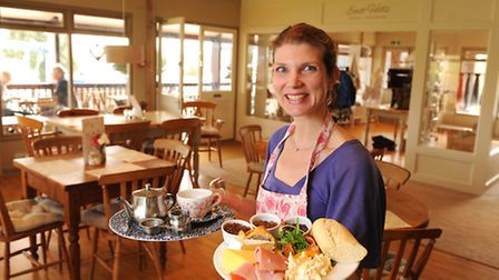 Sophie Hodgkinson who has opened up the East Hills Cafe and Bistro on Brundall Marina.Picture: James