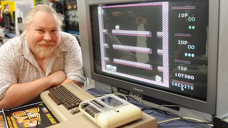 The Norwich Gaming Festival gets under way at the Forum. Lee Jennings with some of his gaming collec
