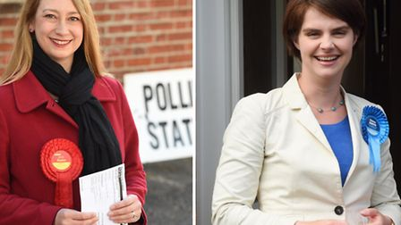 Norwich North Labour candidate Jess Asato (left) and Conservative candidate Chloe Smith (right) on E