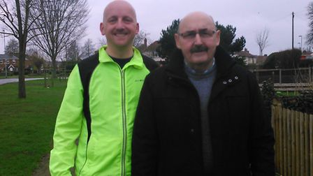Shaun Lowthorpe (left) and his father Walter (right). Pic: Submitted.