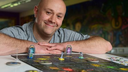 Damon Pritchard, organiser of the 24 hour board games marathon called Dicing with Boardom, to raise