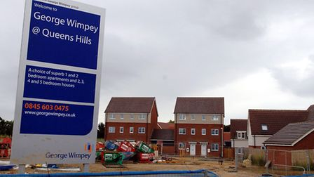 The George Wimpey development at Queens Hills, Costessey, pictured in 2008.