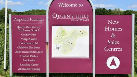 The entrance to Queen's Hills.Picture: ANTONY KELLY