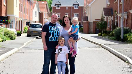 Queen's Hills residents Maria and Chris Hilton with their children Lucas, 5, and Chloe, 2.Picture: A