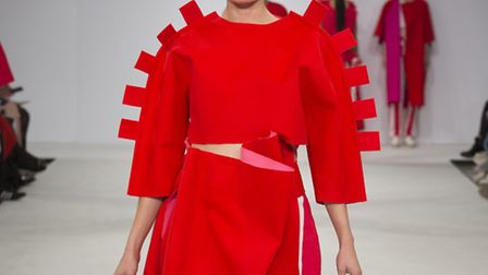 Work by NUA fashion graduate Victoria Miller on the catwalk at Graduate Fashion Week. Picture; Simon