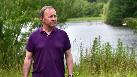 Graham Loton pictured at the place in Whitlingham Country Park where he wants to put a bench in memo