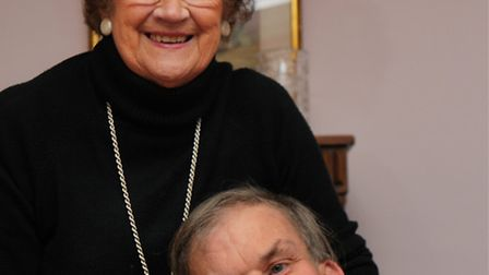 Doris Ball with her son Malcolm at home in NorwichPhoto: Bill SmithCopy: Shaun LowthorpeFor: Archant