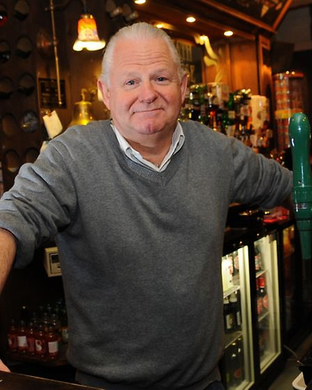 Landlord Malcolm McCann said the club needed to support the pub. Picture: Denise Bradley