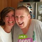 Andrea Wright shaves her head for Macmillian's Brave the Shave. Picture: SUBMITTED