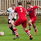 Nick Castellan on the attack for Swaffham in their 2-2 draw with Haverhill Rovers at Shoemakers Lane