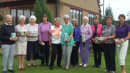 The ladies of Swaffham Golf Club held their Closed Autumn Meeting, left to right, Di Smith, Ann Curt
