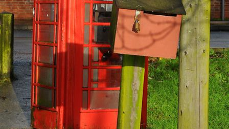 The post box on River Green, Thorpe St Andrew that is used by the residents of Thorpe Island. Photo