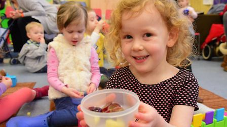 Children enjoy the play den at First Steps Toddler Group which received money from Comic Relief.PHOT